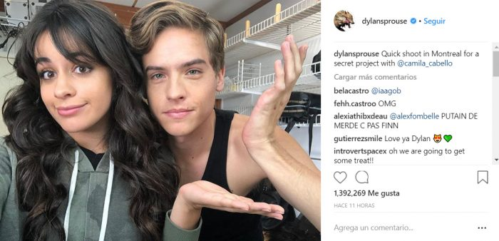 Camila Cabello y Dylan Sprouse