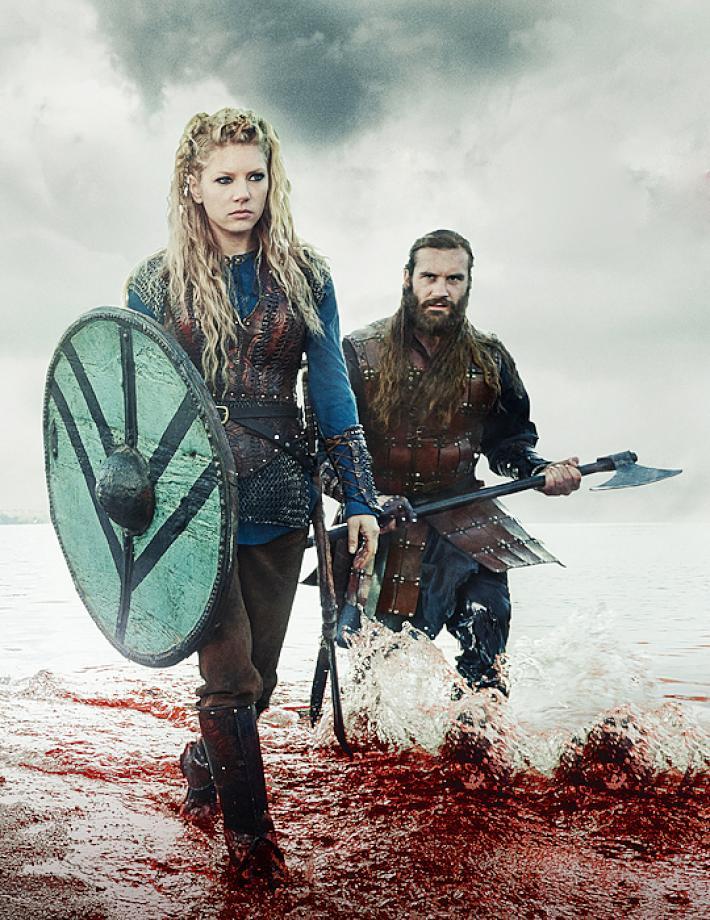 'Vikings' - Lagertha y Rollo