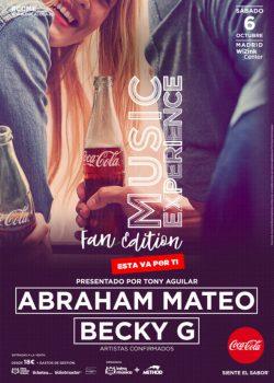 Abraham Mateo y Becky G, primeros confirmados de Coca-Cola Music Experience