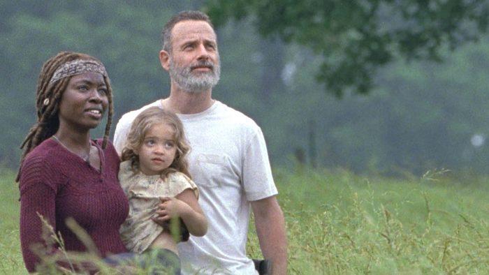 Michonne, Judith y Rick Grimes