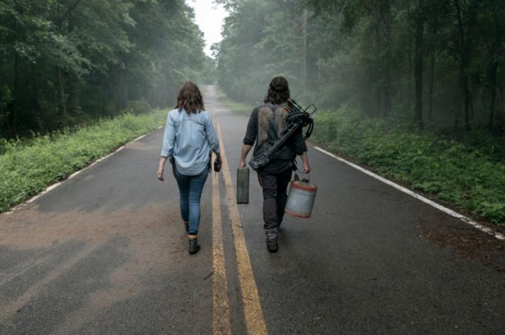 Maggie y Daryl