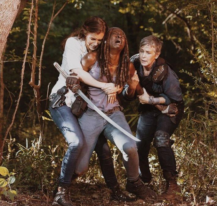Maggie, Michonne y Carol