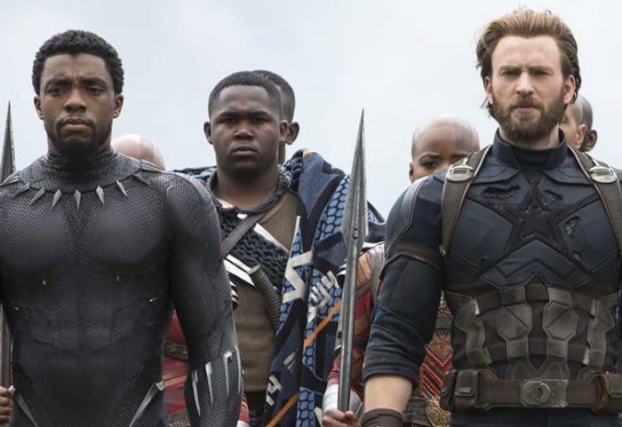 T'Challa y Steve en 'Infinity War'