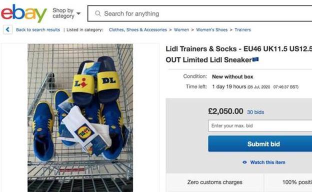 Lidl provoca la locura en Ebay con sus zapatillas