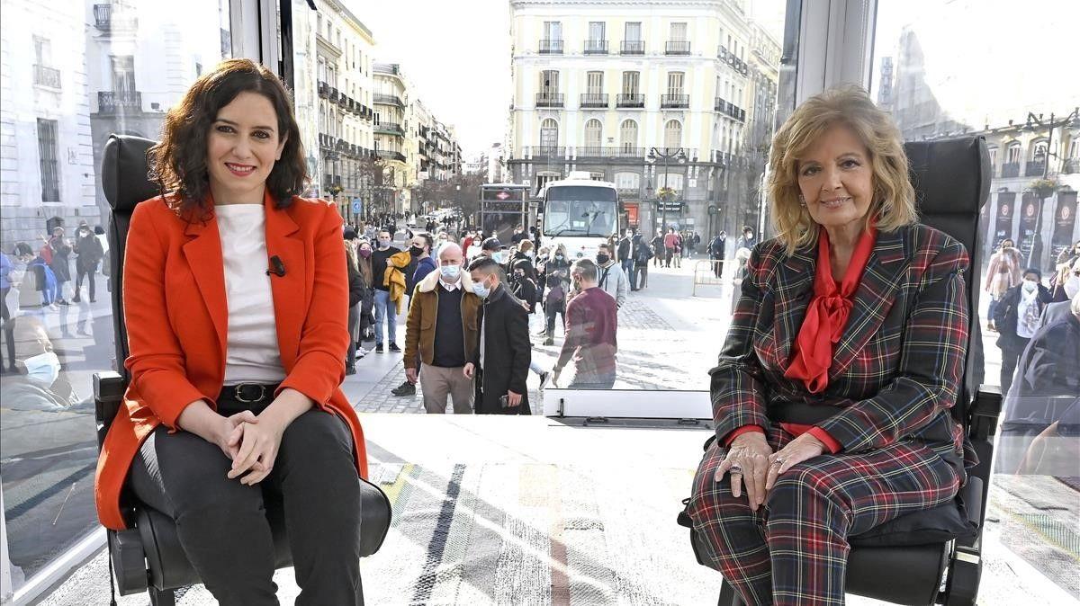 'La Campos móvil' se estrenó con una entrevista a Isabel Díaz Ayuso