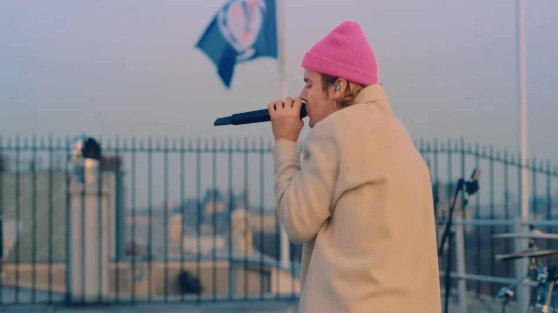 Justin Bieber cantó por primera vez en directo canciones su disco 'Justice'