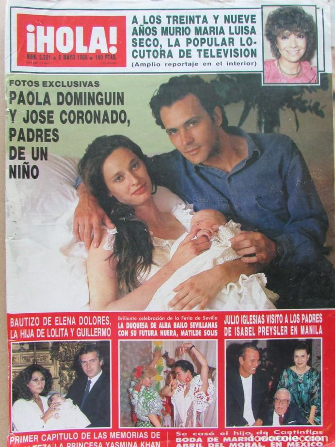 Paola Dominguín fue madre junto a José Coronado de NIcolás, el hijo que tuvieron durante su relación