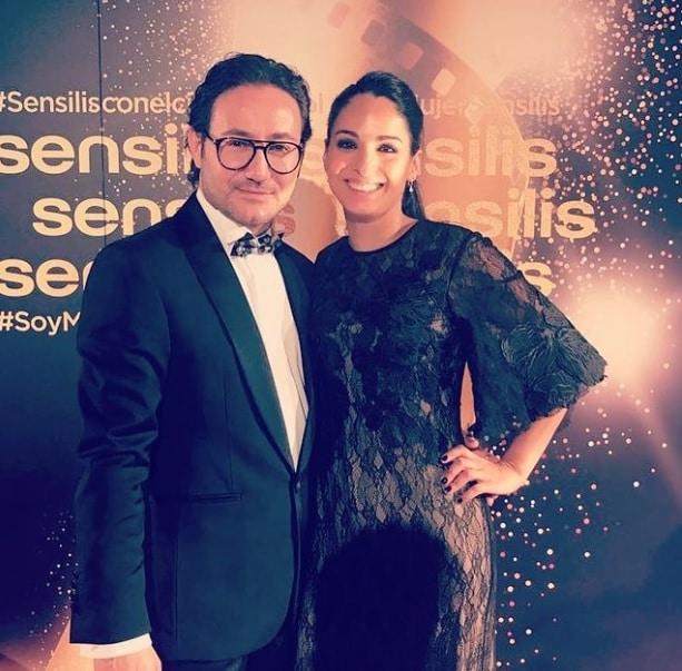 Carlos Santos junto a Lorena, su novia desde hace 16 años