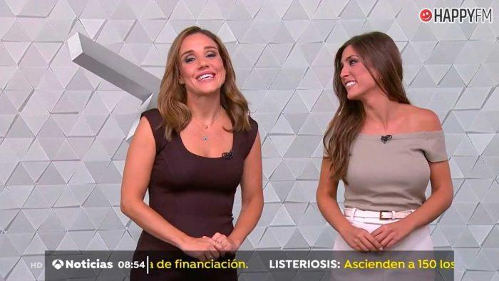 Marina Monzón comparte con Alba Dueñas las noticias de la mañana de Antena 3