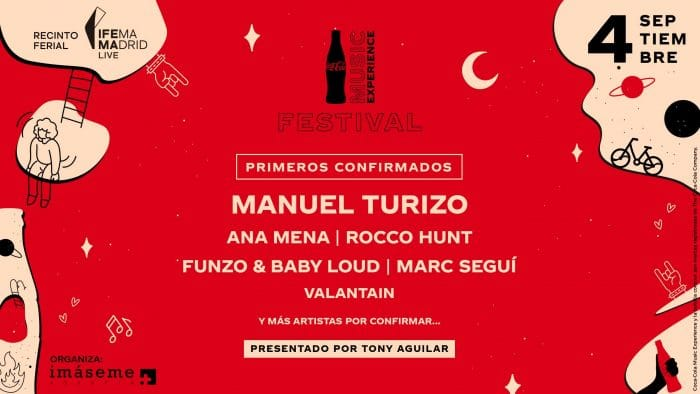 'Coca-Cola Music Experience 2021': Manuel Turizo, Ana Mena y Marc Seguí, entre los primeros artistas confirmados