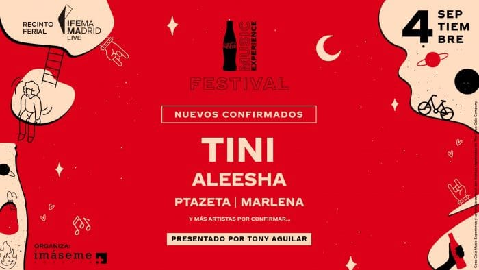 'Coca-Cola Music Experience 2021': Tini, Aleesha, Ptazeta y Marlena, entre los nuevos confirmados